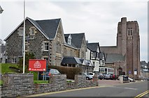 NM8530 : Hotels and cathedral, Oban by Jim Barton