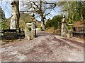 SO0571 : Entrance to The Hall at Abbey-Cwm-Hir by David Dixon