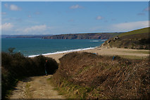 SW6423 : View off the track from Chyvarloe to Loe Bar by Christopher Hilton