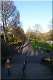 NT2473 : Steps into Princes Street Gardens by DS Pugh