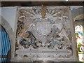 SS2203 : Arms of Charles II, Church of St Marwenne, Marhamchurch by David Smith