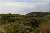 SW6620 : View onto the golf course, Church Cove, Gunwalloe by Christopher Hilton