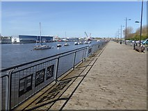NZ3064 : Water front at Hebburn by Oliver Dixon