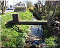 ST3387 : Large bore pipe over Liswerry Pill Reen, Newport by Jaggery