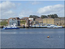 NZ3567 : Ferry approaching the North Shields terminal by Oliver Dixon