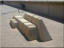 NZ3767 : Bench on Littlehaven Promenade by Oliver Dixon