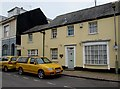 SX9372 : Yellow cars outside the yellow Old Bank, Shaldon by Jaggery