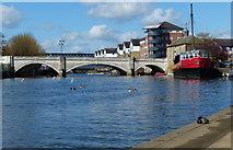 TL1998 : Bridge across the River Nene in Peterborough by Mat Fascione