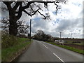 TM1654 : B1078 Lower Road & footpath by Adrian Cable