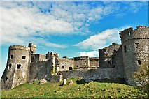 SN0403 : Carew Castle - Southern Walls by Deborah Tilley