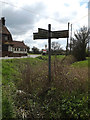 TM1552 : Roadsign on Bell's Cross Road by Adrian Cable