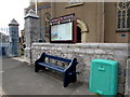 SX9473 : Bench and information board, Church of St Michael the Archangel, Teignmouth by Jaggery