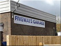TM1551 : Fiveways Garage sign by Geographer