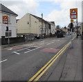 SS5698 : Warning signs - School/Ysgol, Castle Street, Loughor by Jaggery