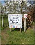 TM1551 : Henley Community Centre sign by Geographer