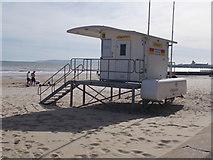 SZ0990 : Lifeguard Station - near East Cliff Lift by Betty Longbottom