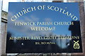 NS4643 : Fenwick Parish Church by Billy McCrorie