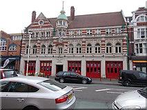 SZ0991 : The Old Fire Station - Holdenhurst Road by Betty Longbottom
