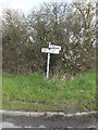 TM1452 : Roadsign on Bull's Road by Adrian Cable
