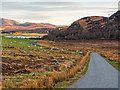 NH6028 : Unclassified road around Loch Ruthven by valenta