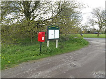 TM1451 : The Croft The Green Postbox & Village Notice Board by Adrian Cable