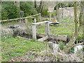 SU3327 : Sluice on a land drainage ditch, Mottisfont Abbey by Humphrey Bolton