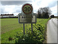 TM1250 : Barham Village Name sign on Norwich Road by Adrian Cable