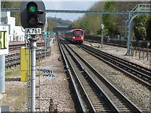 TQ1289 : View from the end of the platform at Pinner Underground station by Marathon