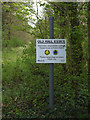 TM1152 : Estate sign on The Sheepwalk Bridleway by Adrian Cable