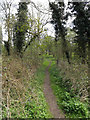 TM1252 : Footpath to Sandy Lane by Geographer