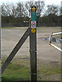 TM1251 : Footpath sign at Barham Pits by Adrian Cable