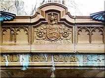SJ8398 : Queen Victoria Jubilee Statue (basin detail) by David Dixon