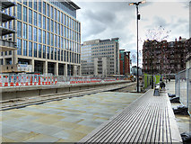 SJ8397 : New Metrolink Stop at St Peter's Square Under Construction (April 2016) by David Dixon