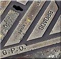 "J3373 : ""Broads"" GPO access cover, Belfast - April 2016(2) by Albert Bridge"