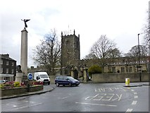 SD9951 : Skipton War Memorial and Holy Trinity Church by Russel Wills