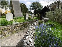 TQ1289 : The path to the lych gate, St John the Baptist Churchyard, Pinner by Marathon