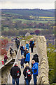 SK9771 : Tourists on Lincoln Castle walls by Julian P Guffogg