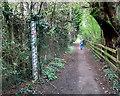 SP2755 : Gauge Board on the Footpath by Des Blenkinsopp