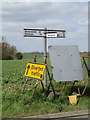 TM1760 : Roadsign on the A1120 Framsden Road by Adrian Cable