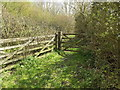 TM1760 : Footpath to the B1077 Chapel Hill by Adrian Cable