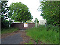 SK9016 : Pinfold Lane entrance to former RAF Cottesmore by Andrew Tatlow