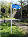 TL1215 : The Nickey Line footpath sign by Adrian Cable