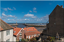 NZ8911 : View towards Whitby Harbour, Whitby, Yorkshire by Christine Matthews