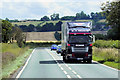 SK9252 : Heavy Goods Vehicle on the A17 near to Stragglethorpe by David Dixon