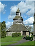 SO3958 : Bell tower, Church of St Mary, Pembridge by Alan Murray-Rust