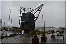 SX4653 : Royal William Victualling Yard - old crane by N Chadwick