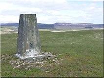 NZ0392 : Trig point on Greenleighton Hill by Russel Wills
