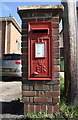 SK7517 : Benchmarked pillar box on Queensway by Roger Templeman