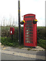TM1851 : The Smithy Postbox & Telephone Box by Adrian Cable