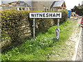 TM1851 : Witnesham Village Name sign by Adrian Cable